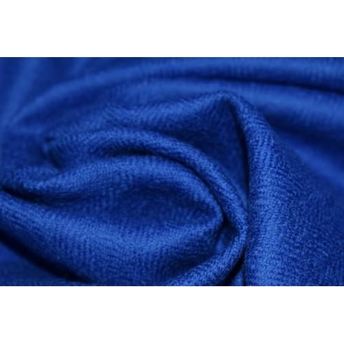 Fabric- Plain, 2m,  100% Merino Wool 2/20 Blue