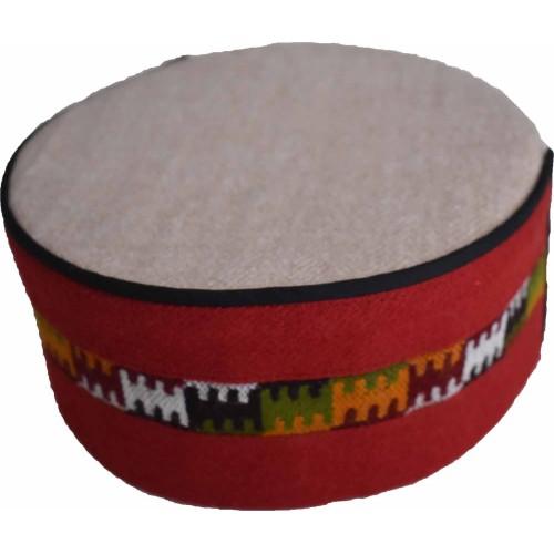 Cap- Malana- 7 No.- 100% Handloom Merino Wool Red