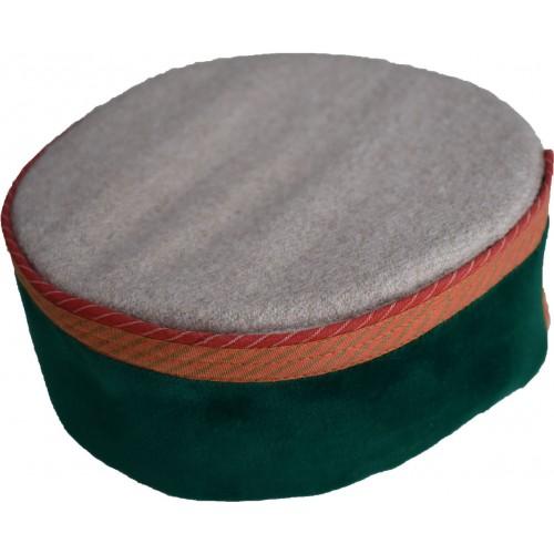 Cap- Busheri 6 No. 100% Handloom Merino Wool Green