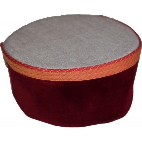 Cap- Busheri 7 No. 100% Handloom Merino Wool Maroon