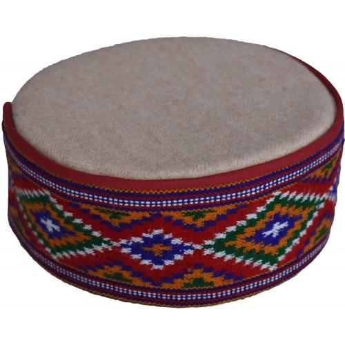 Cap-Kinnauri 8 No. 100% Handloom Merino Wool Multicolour A