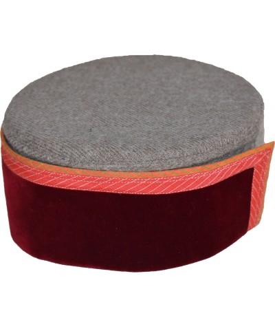 Cap- Kinnauri 7 No. 100% Handloom Merino Wool  Maroon