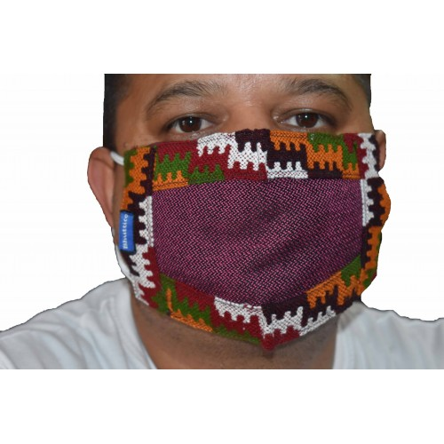 Face Mask-1 Traditional Design Dark Purple
