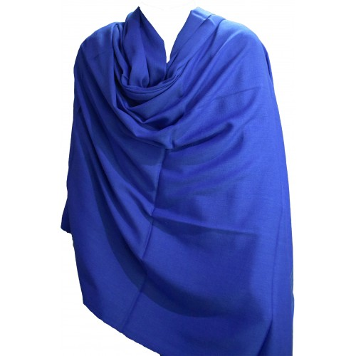 Gents Shawl- Loi PS 100% Handloom Silk and Wool Blue