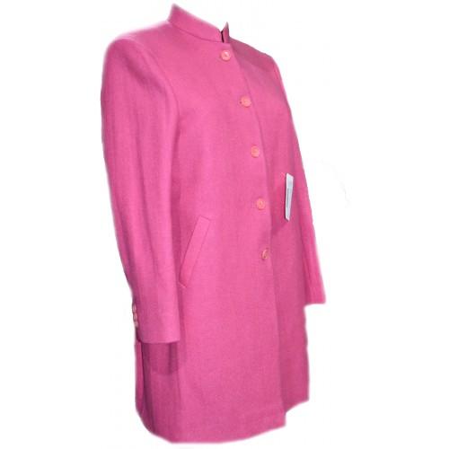 Coat -T 38 100% Handloom Merino Wool 2/20 Pink