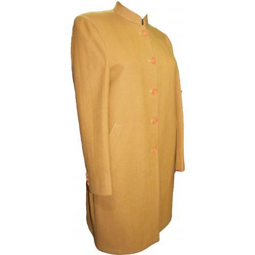 Coat -T -38 100% Handloom Merino Wool 2/20 Mustard