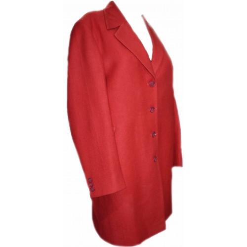 Coat- T- 38 100% Handloom Merino Wool 2/20 Red