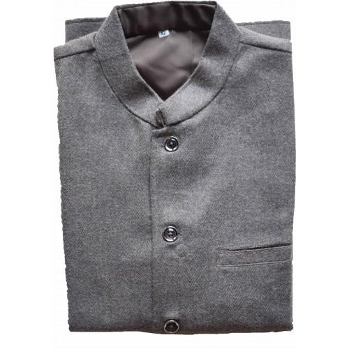 Jacket Nehru 42 No. 100% Handloom Pollywool 2/20 Pashmina