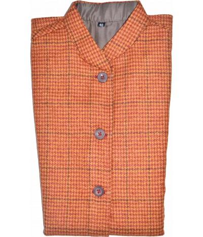 Jacket Ladies 40 No 100% Handloom Merino Wool 2/20 Rust