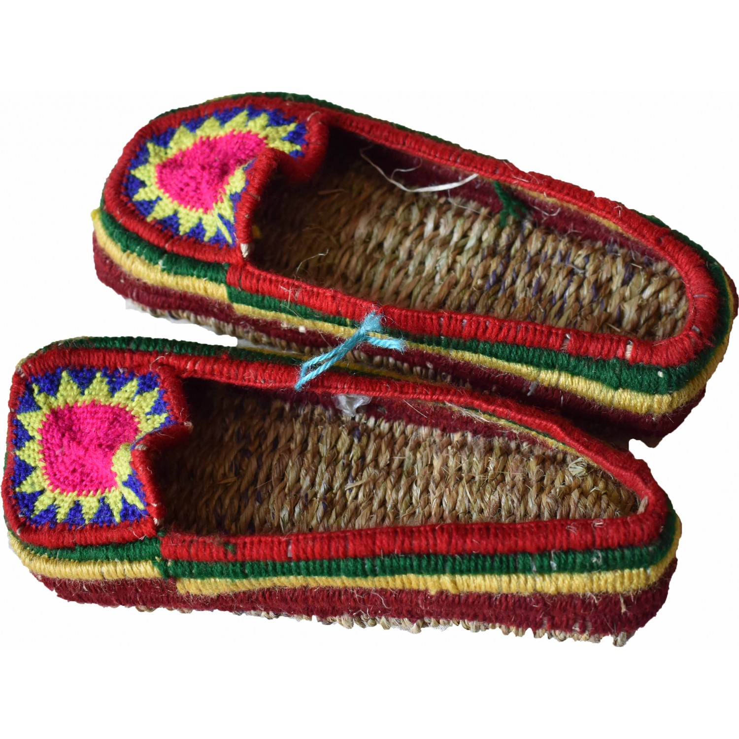 Grass Slippers - Pulla D Multicolour (Colour of design may vary as each Pullas were made in diffrent colour combinations)