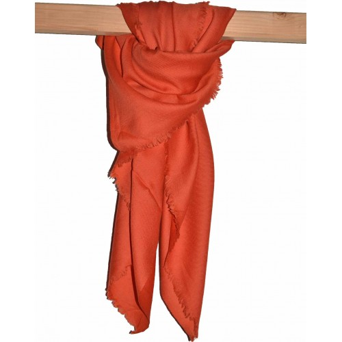 Scarf-Plain Merino Wool 2/72 Orange