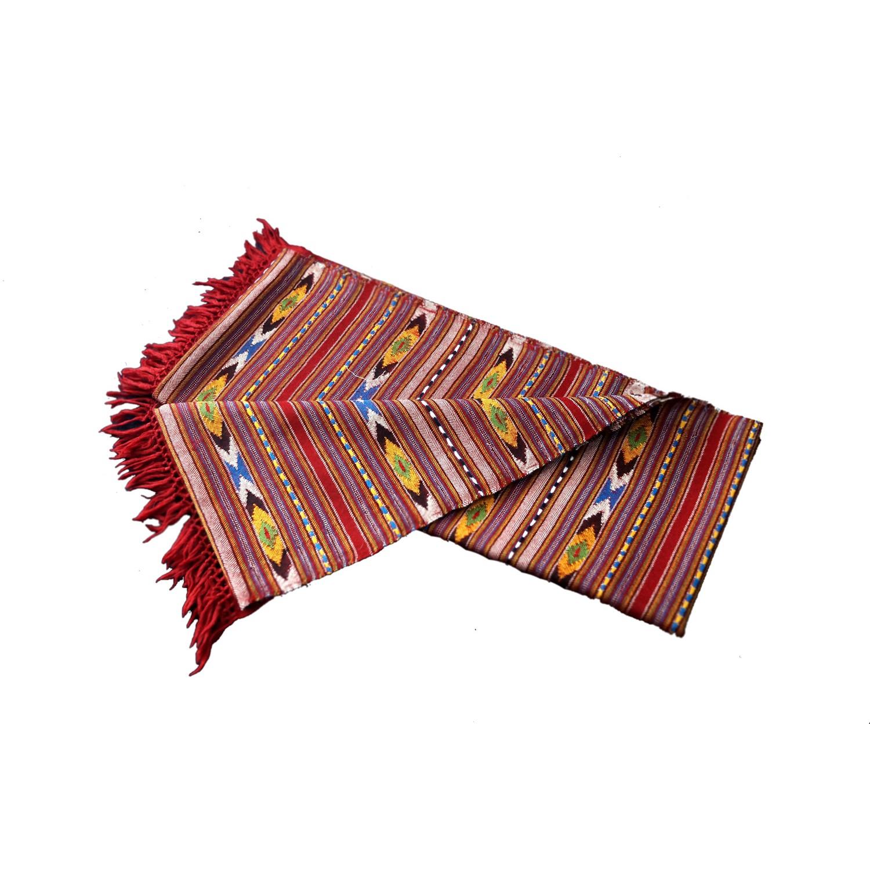 Shawl-397A Merino Wool 2/48 Red