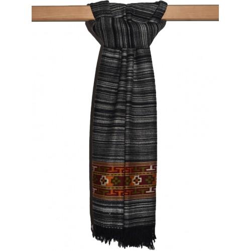 Shawl- BC 9 Merino Wool Handspun Black