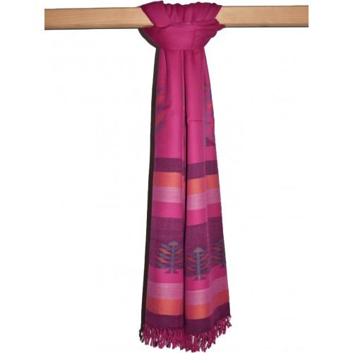 Shawl-103 Merino Wool 2/72 Magenta