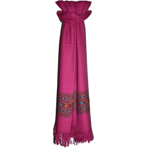 Shawl-396 Merino Wool 2/48 Magenta