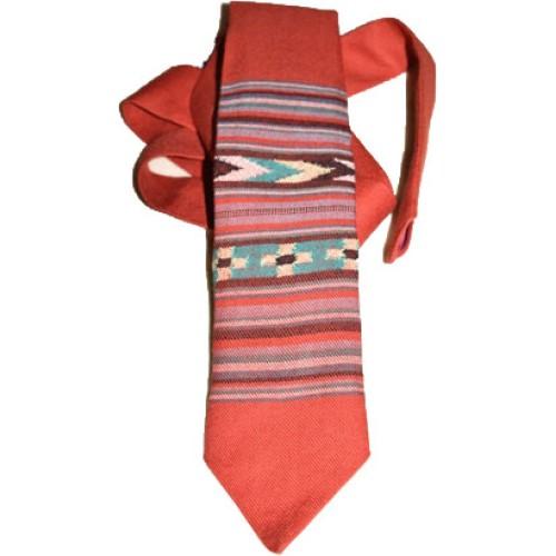 Tie- B2 100% Handloom Merino Wool 2/42 Red
