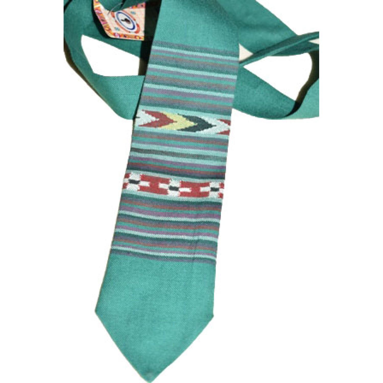 Tie- B4 100% handloom Merino Wool 2/48 Green