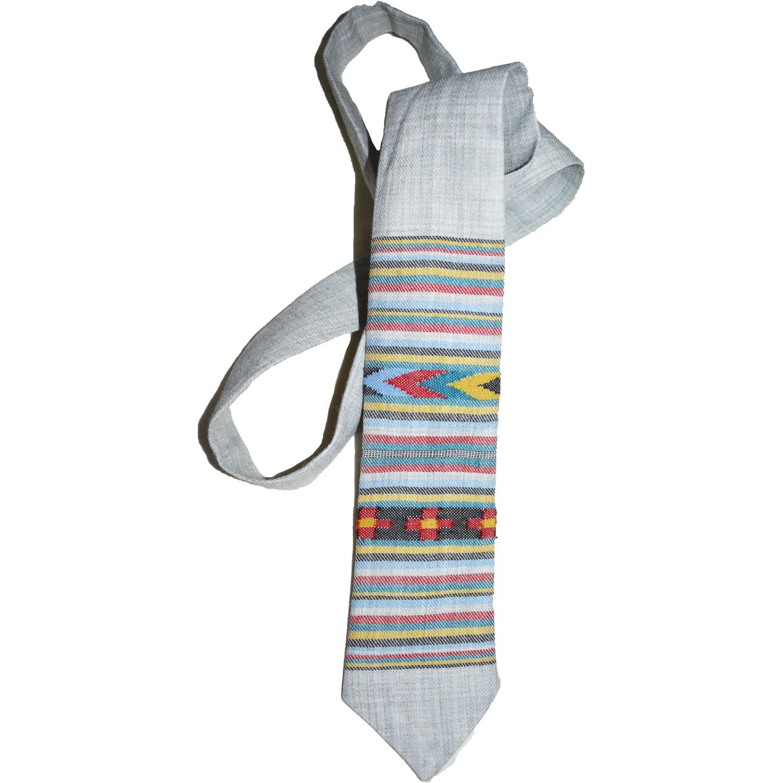 Tie - B3 100% handloom MerinoWool 2/48 Grey