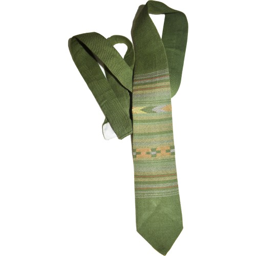 Tie- B5 100% Handloom Merino Wool 2/48 Bottle Green