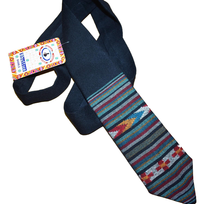 Tie-B1  100% Handloom Merino Wool 2/48 Black