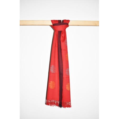 Stole-220 Merino Wool 2/72 RED