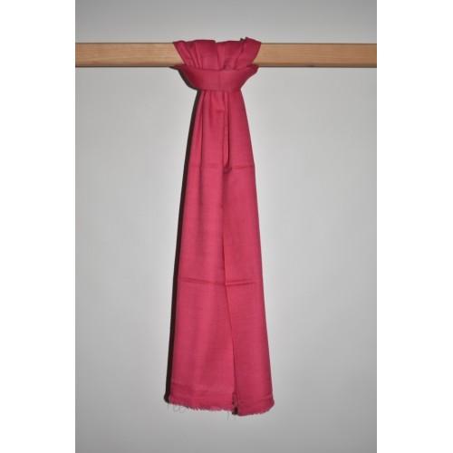 Stole-Plain Angora and Wool Pink