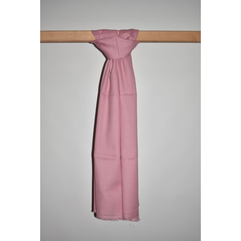 Stole-Plain Angora and Wool light pink